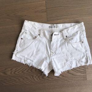 Free People White Jean Shorts- 25